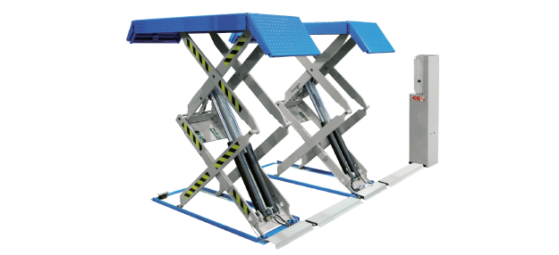 Ponte sollevatore doppia forbice rav 518nl for Ponte sollevatore a forbice